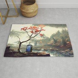 Tardis Art And The Tree Blossom Rug