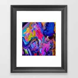 Abstract Viscosity Framed Art Print