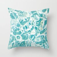 swim Throw Pillows featuring Swim by Melanie Alexandra Photography