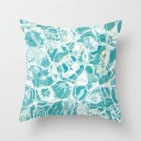 swim Throw Pillows featuring Swim by Melanie Alexandra