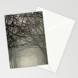 Branches meeting in the fog Stationery Cards