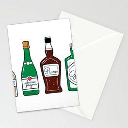 Alcohol bottles Stationery Cards