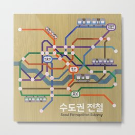Seoul Metro Metal Print