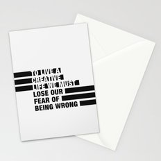To Live a Creative Life we must Lose Our Fear of Being Wrong Stationery Cards