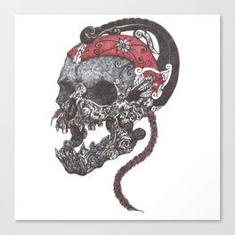 wayang drawing Canvas Print