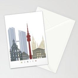 Munich skyline poster Stationery Cards