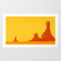 Coyote Country Art Print