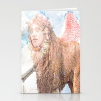 sphynx Stationery Cards featuring sphynx by Ganech joe