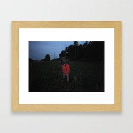 Somebody in the woods. Framed Art Print