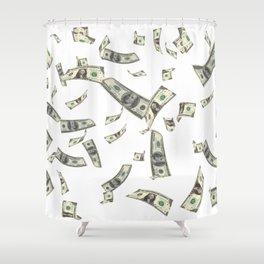 Money,dollars,prosperity pattern Shower Curtain