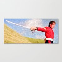 sword Canvas Prints featuring Sword Play by DigitalAndPhoto