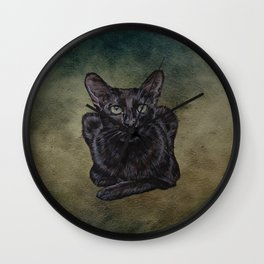Cat Painting 16 Wall Clock