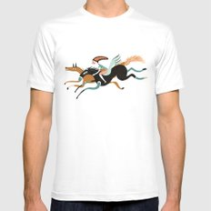 flying White Mens Fitted Tee MEDIUM