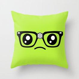 Sad little nerd. Throw Pillow