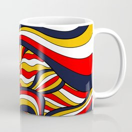 African Style No17, Desert Waves Coffee Mug