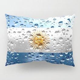 Flag of Argentina - Raindrops Pillow Sham