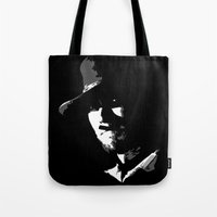 clint barton Tote Bags featuring CLINT by DRMdesign