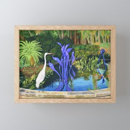 Looking at Sculpture Framed Mini Art Print