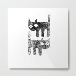 Three legged cats Metal Print