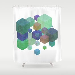 Fly Cube N1.5 Shower Curtain