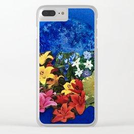 Garden Circle - Blue Clear iPhone Case