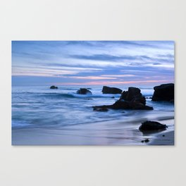 Blue Sunset Beach Canvas Print
