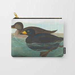 Scoter Duck Vintage Scientific Bird & Botanical Illustration Carry-All Pouch