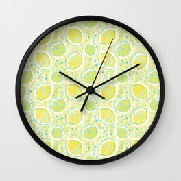 Atomic Lemonade_Green and Cerulean Wall Clock