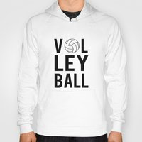 volleyball Hoodies featuring Volleyball (black) by raineon