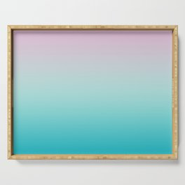 Pastel Ombre Pink Blue Teal Gradient Pattern Serving Tray