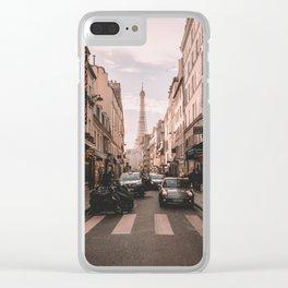 Vintage Paris, France (Color) Clear iPhone Case