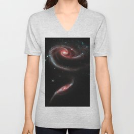 Rose of Galaxies Unisex V-Neck