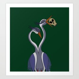 Portrait of the Heron Art Print