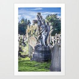 Cemetery Headstone Art Print