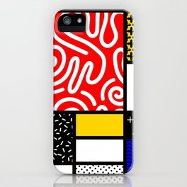 Mondrian in a Memphis Style iPhone Case