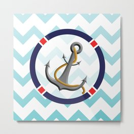 anchors away Metal Print