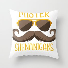 Mister Shenanigans Throw Pillow