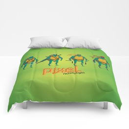 Ninja Turtles - Pixel Nostalgia Comforters