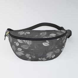Black and White Leaves Pattern #1 Fanny Pack