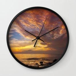 Lingering Sunset Wall Clock