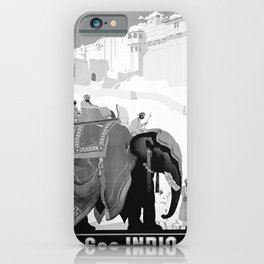 retro monochrome See India iPhone Case