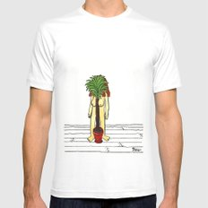 House Plant MEDIUM White Mens Fitted Tee