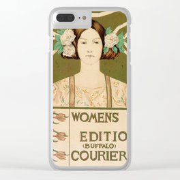 1895 Buffalo Courier for women  New York Clear iPhone Case