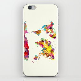 world map color art iPhone Skin