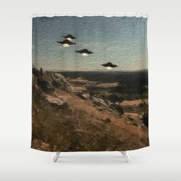 The First Wave - UFO Shower Curtain