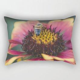 Bee on a flower Rectangular Pillow