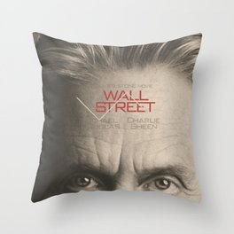 Wall Street, alternative movie poster, Gordon Gekko, Oliver Stone, film, minimal fine art playbill Throw Pillow