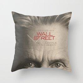 Wall Street, alternative movie poster, Gordon Gekko, Oliver Stone, film, minimal fine art playbill Throw Pillow