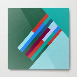 Meridian Green #homedecor #midcenturymodern #midcentury Metal Print