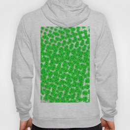 Abstract four leaf clover pattern on texture Hoody